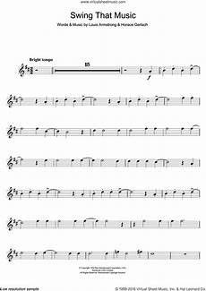 armstrong swing that music sheet music for trumpet solo pdf
