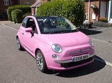 Fiat 500 Pink Convertible fiat 500c pink limited edition convertible in