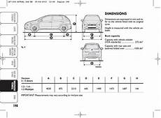 dimension fiat punto dimensions fiat grande punto actual user manual page