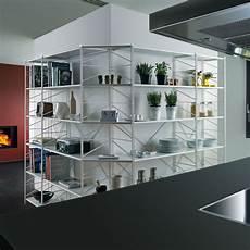 scaffali design scaffale angolare socrate 155 componibile in acciaio bianco
