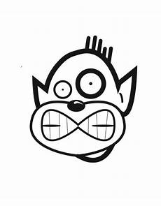 silly coloring page clip library