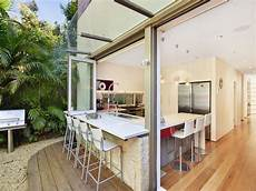 classic galley kitchen design using exposed brick kitchen photo 213601