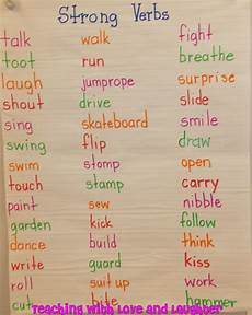 grammar worksheets using strong verbs 24689 la writing teaching strong verbs 1st 2nd teaching with and laughter a week of