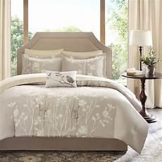 Schlafzimmer Braun Beige Modern - beautiful 8pc modern ivory white brown beige leaf