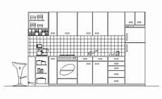Kitchen Plan Elevation And Section by Cad Drawing Of Kitchen In Elevation Cadblocksfree Cad