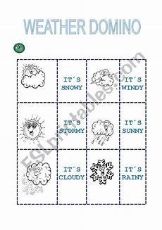 weather domino worksheets 14528 weather domino esl worksheet by nika77