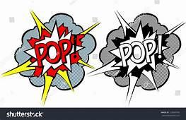 Cartoon Explosion Pop Art Style Stock Vector Illustration