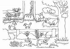 Malvorlagen Bauernhof Gratis Bauernhof Mit Hoftieren Nadines Ausmalbilder