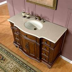 Bathroom Sink Cabinets Marble by 48 Quot Gorgeous Marble Top Ceramic Single Sink Bathroom