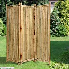 bambusparavent deluxe bambus natur 1 80m x 1 80m outdoor