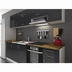 cuisine noir pas cher meuble cuisine gris pas cher