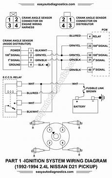 93 altima distributor wire connector diagram part 1 1992 1994 2 4l nissan d21 ignition system wiring diagram
