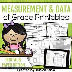 measurement and data worksheets for 1st grade 1415 measurement and data 1st grade math printables worksheets tpt