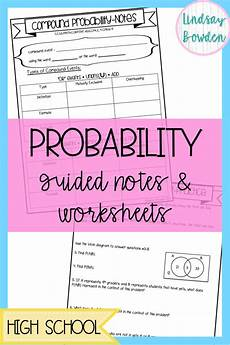 conditional probability worksheet with answers 5933 probability guided notes and worksheets algebra worksheets probability worksheets