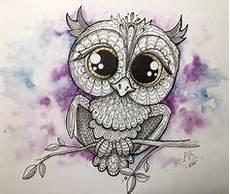 Eulen Malvorlagen Instagram Eule Owl Copic Multiliner Aquarell Mixed Media