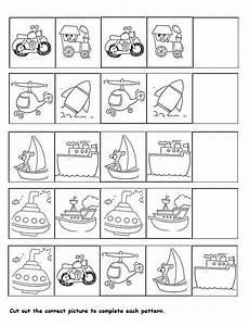 pattern worksheets for preschool pdf 494 transportation pattern worksheet for przedszkole
