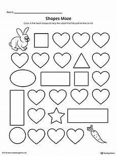 shape maze worksheet 1194 shape maze printable worksheet myteachingstation