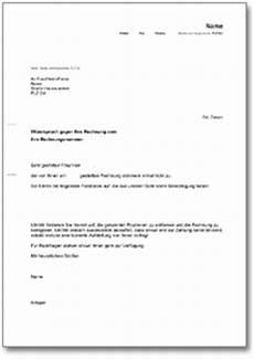 widerspruch rechnung ch musterbrief