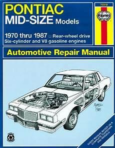small engine service manuals 1982 pontiac grand prix security system pontiac mid sized haynes repair manual 1970 1987 xxx79040