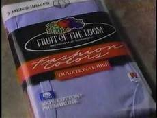 fruit of the loom whose is there ad from