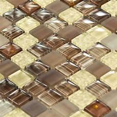 mosaique en verre mosa 239 que en verre arlequin marron indoor by