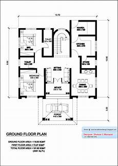 kerala model house photos with floor plans for kerala model villa plan with elevation 2061 sq feet