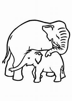 Malvorlagen Baby Elefant Ausmalbilder Elefant Mit Baby Tiere Zum Ausmalen