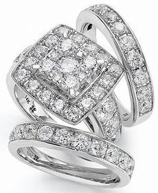 macy s 14k white gold diamond bridal ring 4 ct t w reviews rings jewelry watches