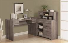 home office furniture l shaped desk 7318 dark taupe l shaped home office desk from monarch i