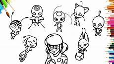 miraculous ladybug all kwami coloring pages