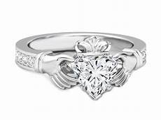 heart shape diamond claddagh engagement ring wed engagement rings heart shaped engagement