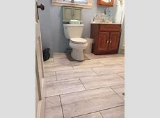STAINMASTER® 12 in x 24 in Groutable Oyster Travertine