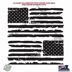 2 us flag vinyl decals fits jeep wrangler distressed grunge american roe graphics and apparel