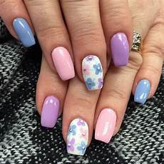 50 flower nail designs for spring bright nail art