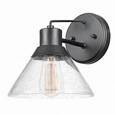 globe electric bolton 1 light matte black outdoor indoor wall sconce 44264 the home depot