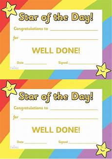 twinkl resources gt gt star of the day a4 poster gt gt classroom printables for pre school kind