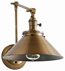 wall sconce with metal cone shade and adjustable arms industrial swing arm wall ls by