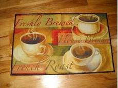 Themed Kitchen Floor Mats by Freshly Brewed Coffee Kitchen Throw Rug Cafe