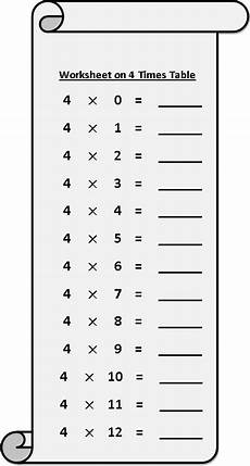 multiplication worksheet x 4 4694 worksheet on 4 times table printable multiplication table 4 times table