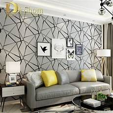 thick flocked geometric modern striped 3d wallpaper for