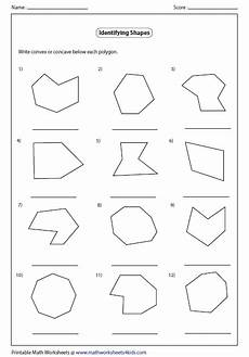 convex and concave polygons worksheets convex and concave shape worksheets identify concave or convex polygon regular polygon