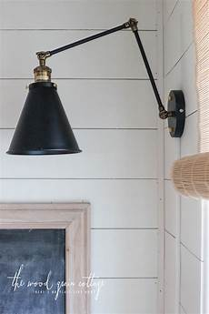 wall lights in the breakfast nook the wood grain cottage