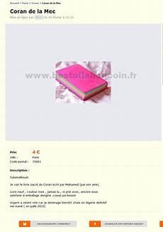 Coran De La Mec Livres 206 Le De Best Of Le Bon Coin