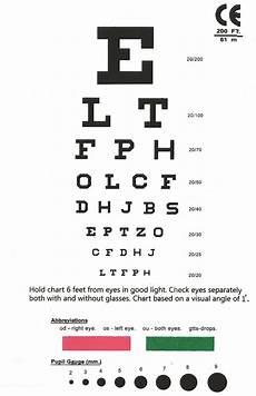 Snellen Eye Examination Chart Eye Chart Snellen Pocket Eye Chart