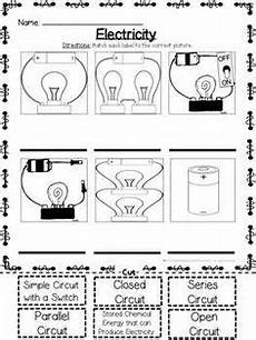 electric circuits worksheets bundle circuits science electricity science classroom