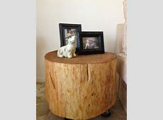 Decor: Stunning Tree Trunk Coffee Table Design With