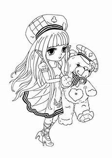 Anime Malvorlagen Free Kostenloses Ausmalbild M 228 Dchen Mit Teddyb 228 R Gratis