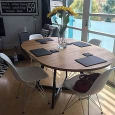 extendable table modern design steel and timber en