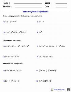 polynomial functions worksheet algebra 2 worksheets dynamically created algebra 2