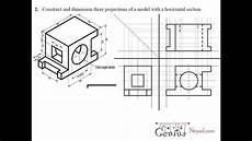 Engineering Drawing Tutorials Orthographic And Sectional